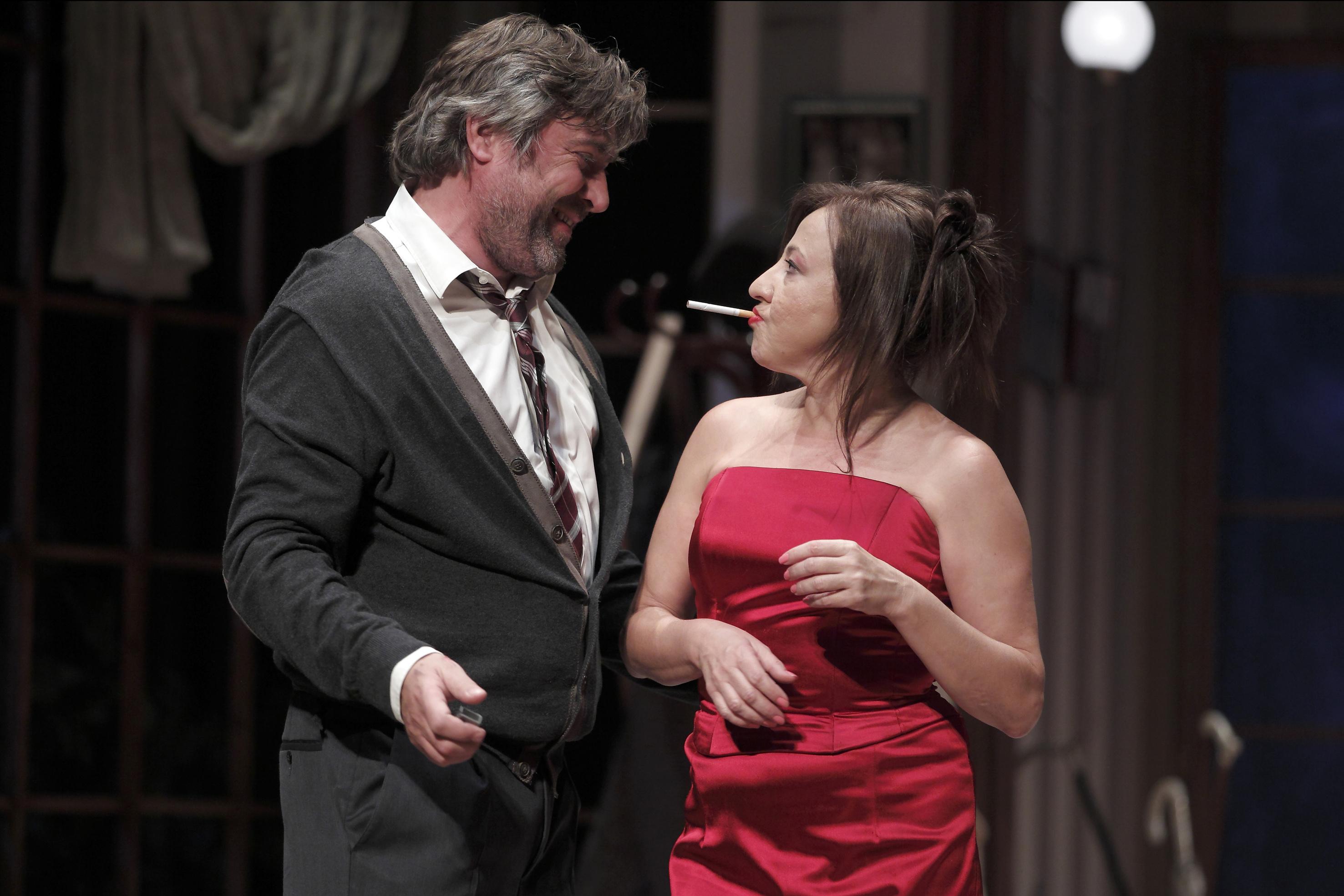 """Momento de la representación de """"¿Quién teme a Virginia Woolf?"""". Imagen: Teatro Alhambra de Granada."""