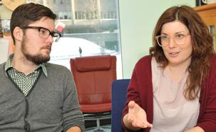 Los investigadores Vincent Larivière and Stefanie Haustein. Fuente: Universidad de Montreal.