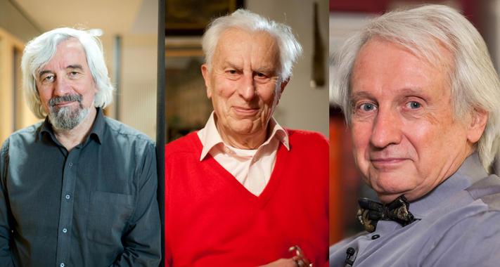 Maximilian Halder, Harald Rose y Knut Urban, premiados por inventar el microscopio electrónico con corrección de aberración. Fuente: Fundación BBVA.