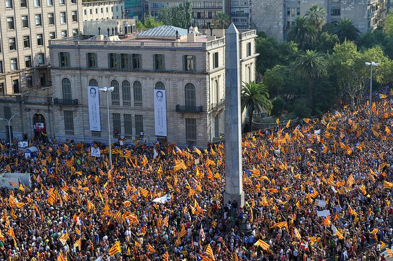Manifestación del 11 de septiembre en Barcelona. Fuente: Generalitat.