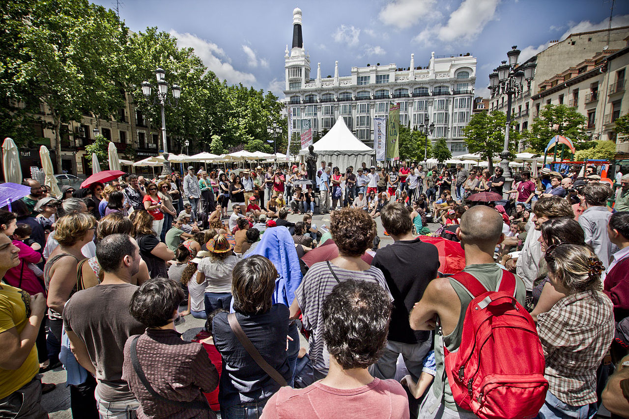 El 15 M en la Plaza de Santa Ana. Madrid. Foto: Charly White