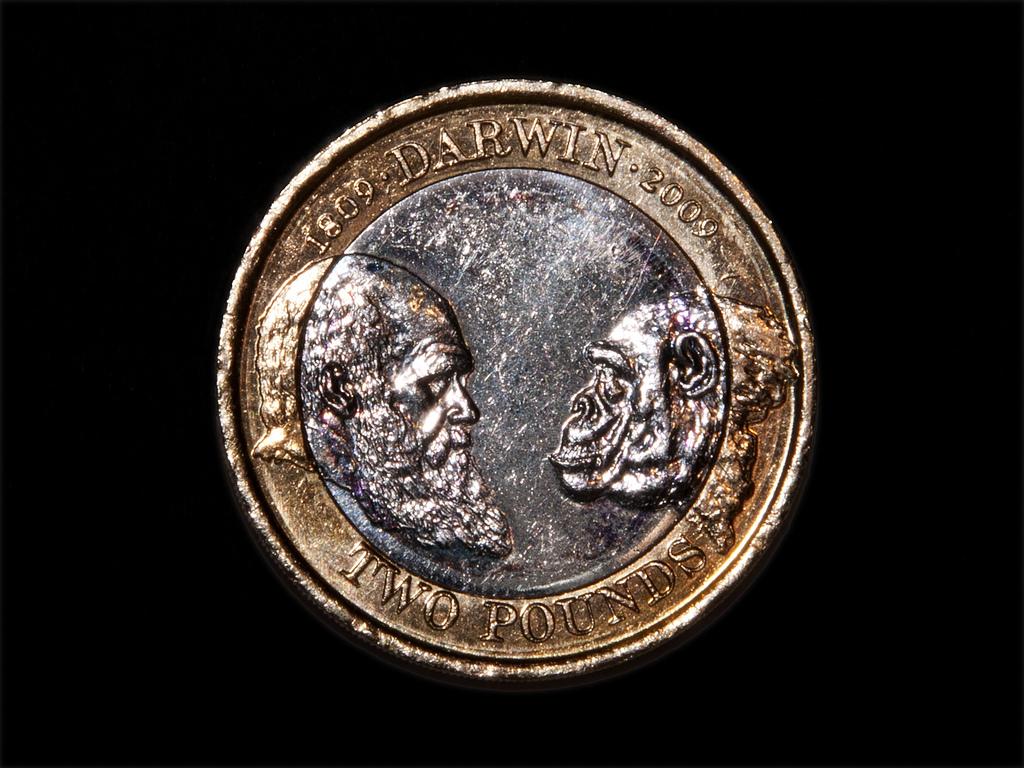 Moneda conmemorativa del 200 aniversario del nacimiento de Charles Darwin. Imagen: www.CGPGrey.com. Fuente: Flickr.