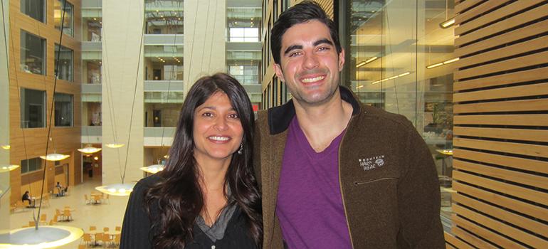 Shernaz Bamji y Stefano Brigidi, autores de la investigación. Fuente: UBC.