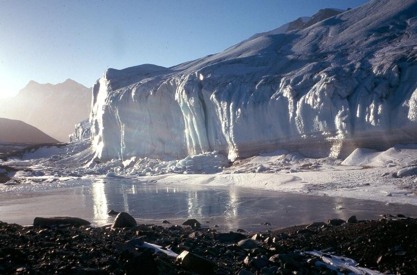 El retroceso de los glaciares preocupa especialmente. NSF.