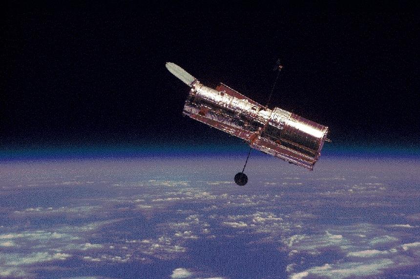 El telescopio espacial Hubble NASA.