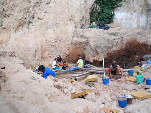 Yacimiento arqueológico de El Salt. Imagen: Ainara Sistiaga. Fuente: Universidad de La Laguna.