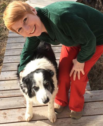 1 / 1 La investigadora Christine Harris junto a Samwise, one de los tres border collies que inspiró el estudio sobre los celos en perros. Imagen: Steve Harris. Fuente: UCSan Diego.