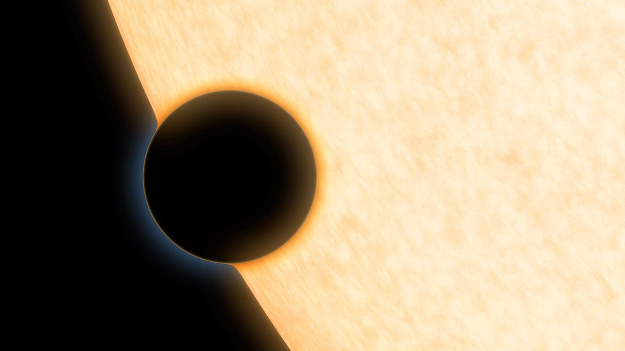 Ilustración artística del planeta HAT-P-11b. Fuente: NASA/JPL-Caltech.