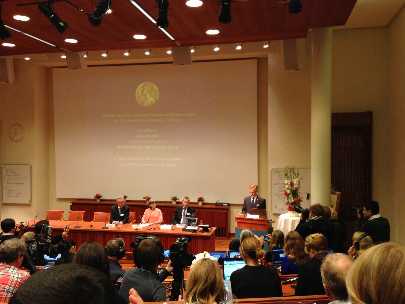 El Premio Nobel de Medicina 2014 fue anunciado por el investigador sueco Göran K Hansson. Fuente: Instituto Karolinska.