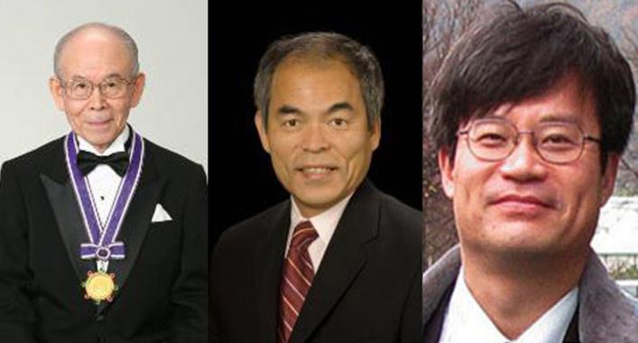 El Premio Nobel de Fisica 2014 ha recaído en los científicos japonés Isamu Akasaki, Hiroshi Amano y Shuji Nakamura. Imagen: SDSU. Fuente: SINC.