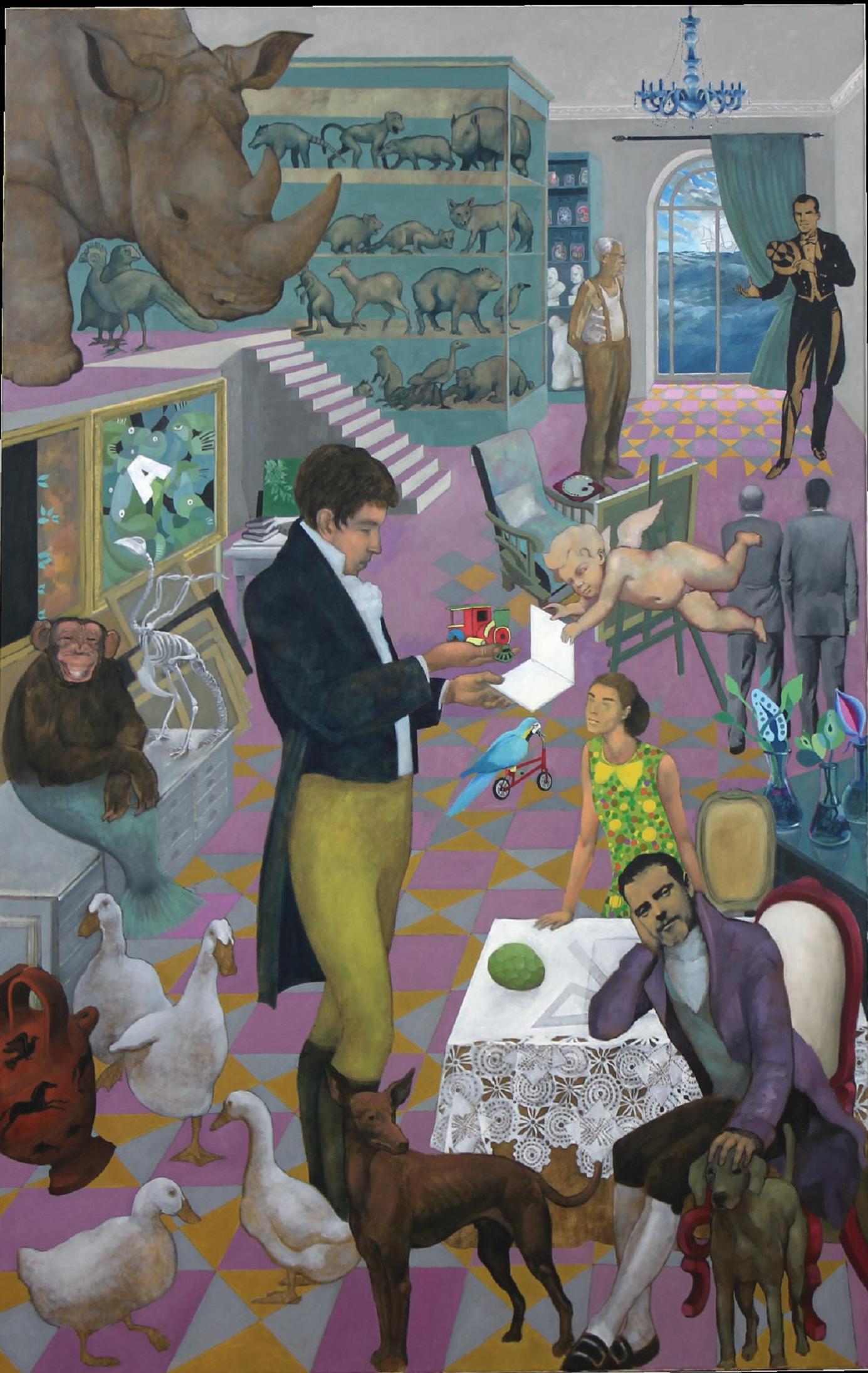 """""""Invención"""", de Germán Bandera, obra que puede verse en la exposición """"Geometría del instinto, en Motril (Granada), durante el mes de octubre de 2014."""