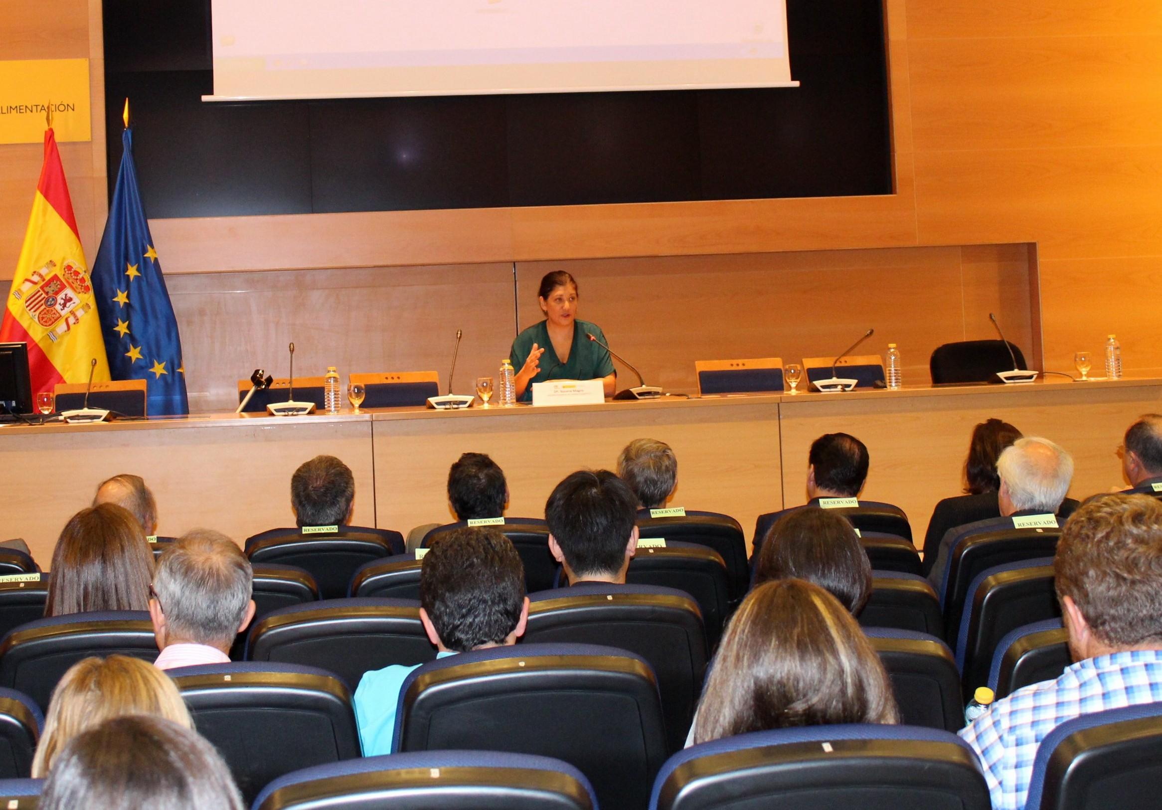 La directora general de Cambio Climático, Susana Magro, en las jornadas. Fuente: Ministerio de Agricultura.