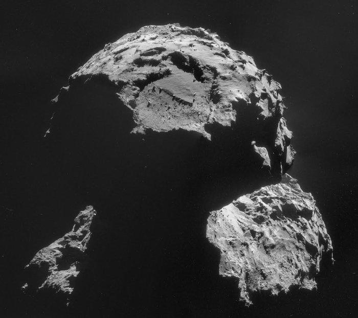 Agilkia, lugar de aterrizaje de Philae en el cometa. Fuente: ESA.