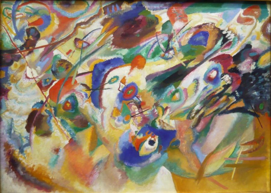 """""""Estudio para composición VII"""" de Wassily Kandinsky, un pintor que veía colores al escuchar música. Imagen: moedermens. Fuente: Flickr."""