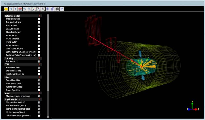 Portal Open Data del CERN. Fuente: CERN.