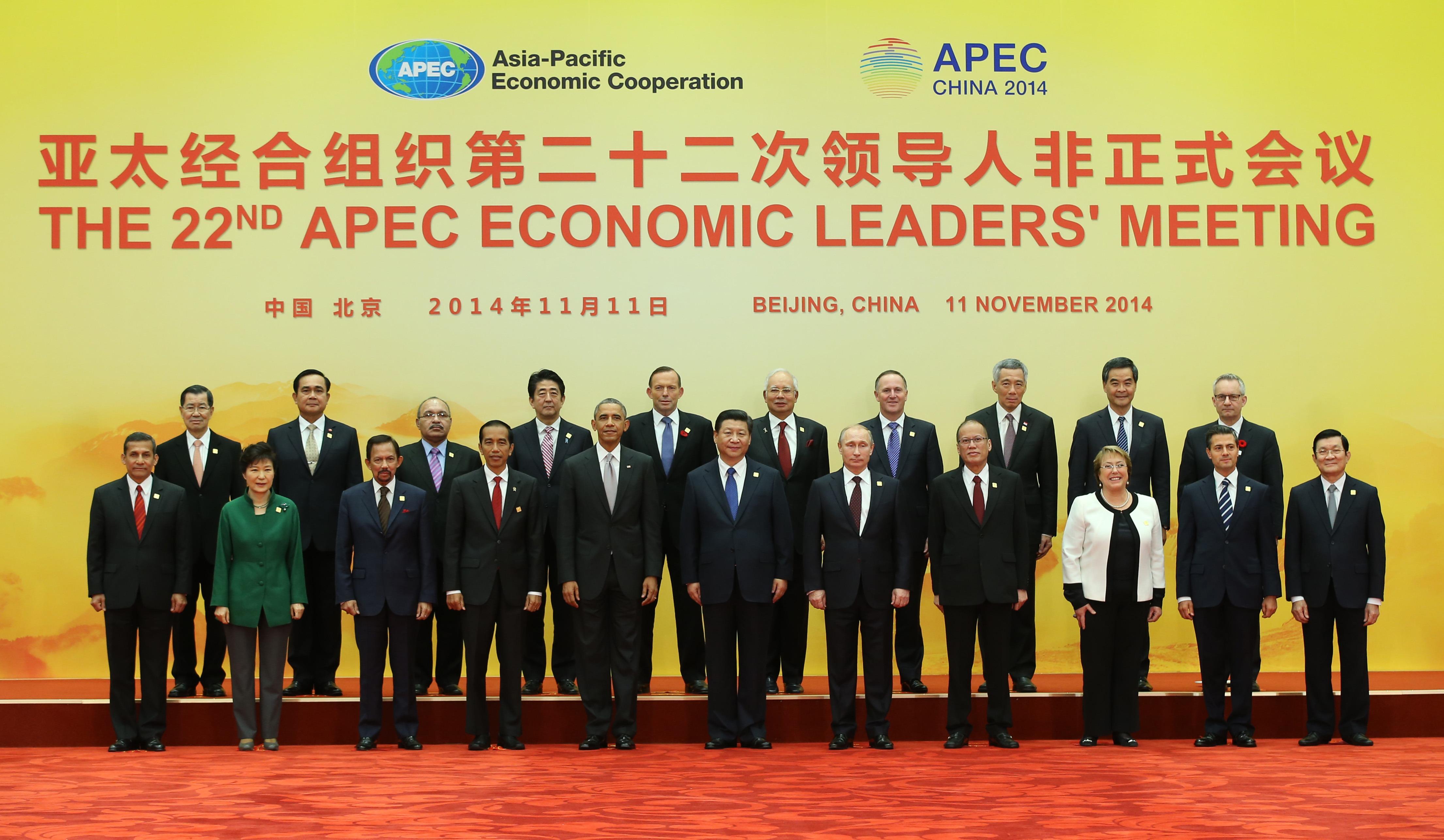 La cumbre de la APEC celebrada en Beijing a principios de noviembre. Foto: APEC