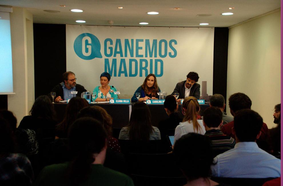 Los portavoces de Ganamos Madrid. Fuente: Ganamos Madrid.