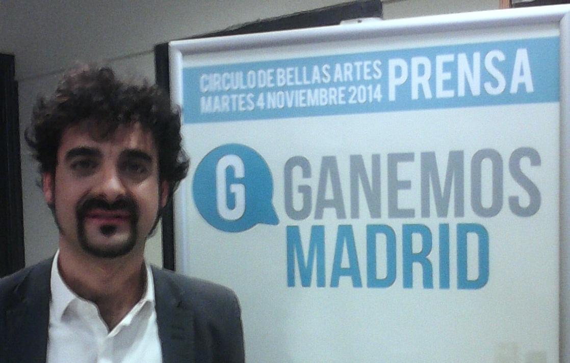 Ernesto García, coportavoz de Ganemos Madrid. Fuente: Ganemos Madrid.