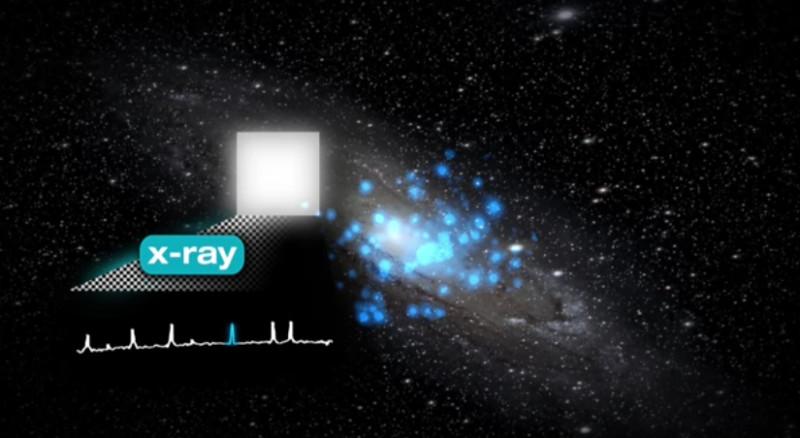 Las posibles señales de materia oscura han aparecido en emisiones de rayos X. Fuente: EPFL.