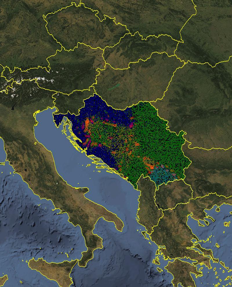 Aplicación del modelo a la antigua Yugoslavia. NECSI.