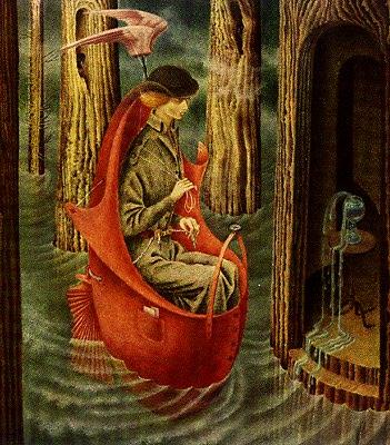 """""""Exploración de las fuentes del río Orinoco"""", de la pintora surrealista española y mexicana, Remedios Varo, especializada en el retrato de ensoñaciones. Fuente: Wikipedia."""