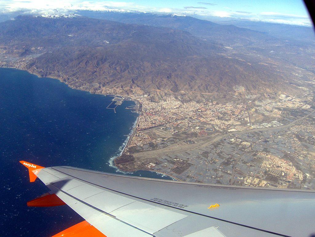 Vista aérea de Almería. Imagen: Schumi4ever. Fuente: Wikipedia.