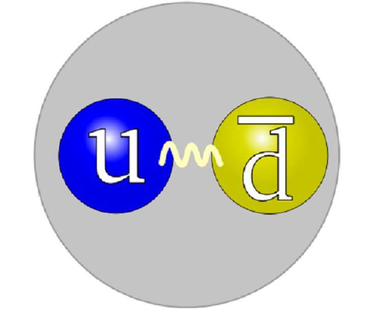 Estructura del pión. Imagen: Arpad Horvath. Fuente: Wikipedia.