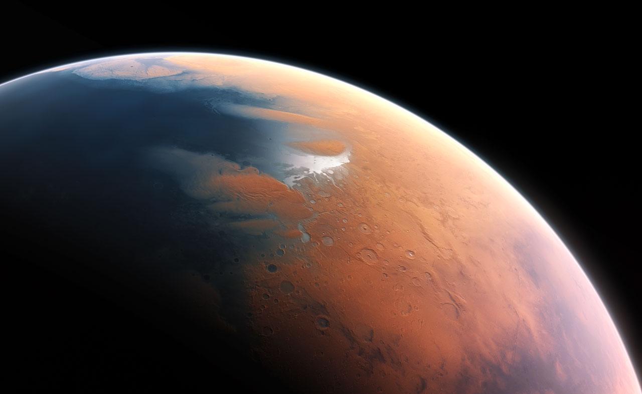 Ilustración de Marte hace 4.000 millones de años. Fuente: ESO.