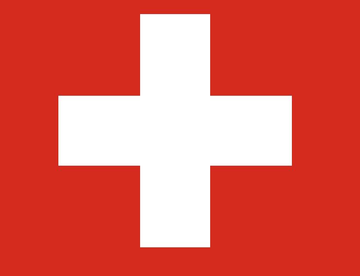 Bandera de Suiza, el país más feliz de la Tierra, según el último Informe  Mundial sobre la Felicidad del SDSN. Fuente: Wikipedia
