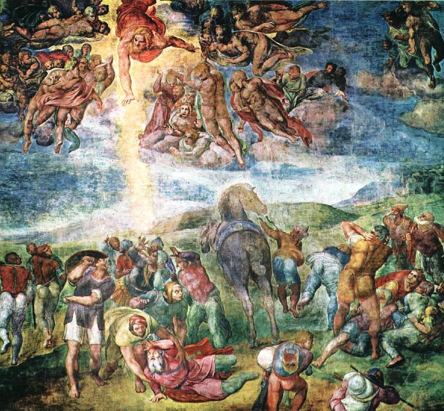 La conversión de San Pablo (1542), obra de Miguel Ángel. Fuente: Wikipedia.
