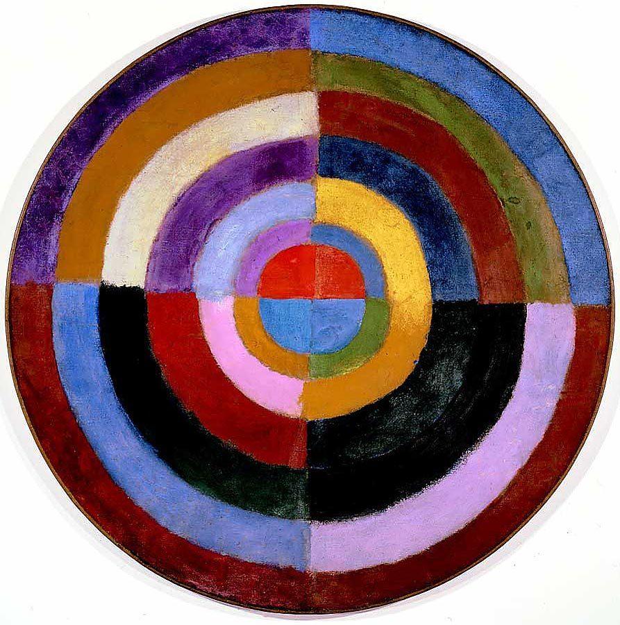 Imagen: Robert Delaunay, Le Premier Disque. Fuente: Wikimedia Commons.