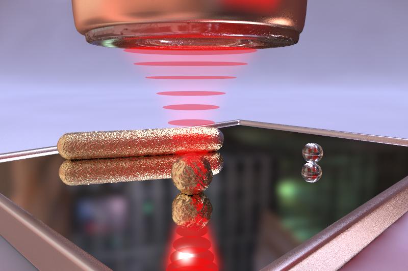 Ilustración del nuevo método de obtención de imágenes. Fuente: Laser Spectroscopy Division (Instituto Max Planck).