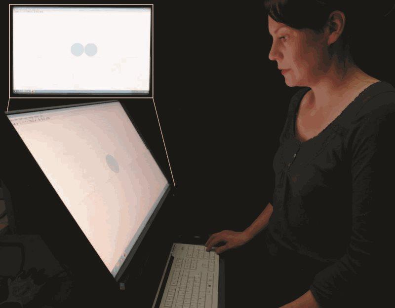 El experimento muestrá hasta qué punto puede el ojo humano determinar el espesor de una película delgada. Fuente: OSA.