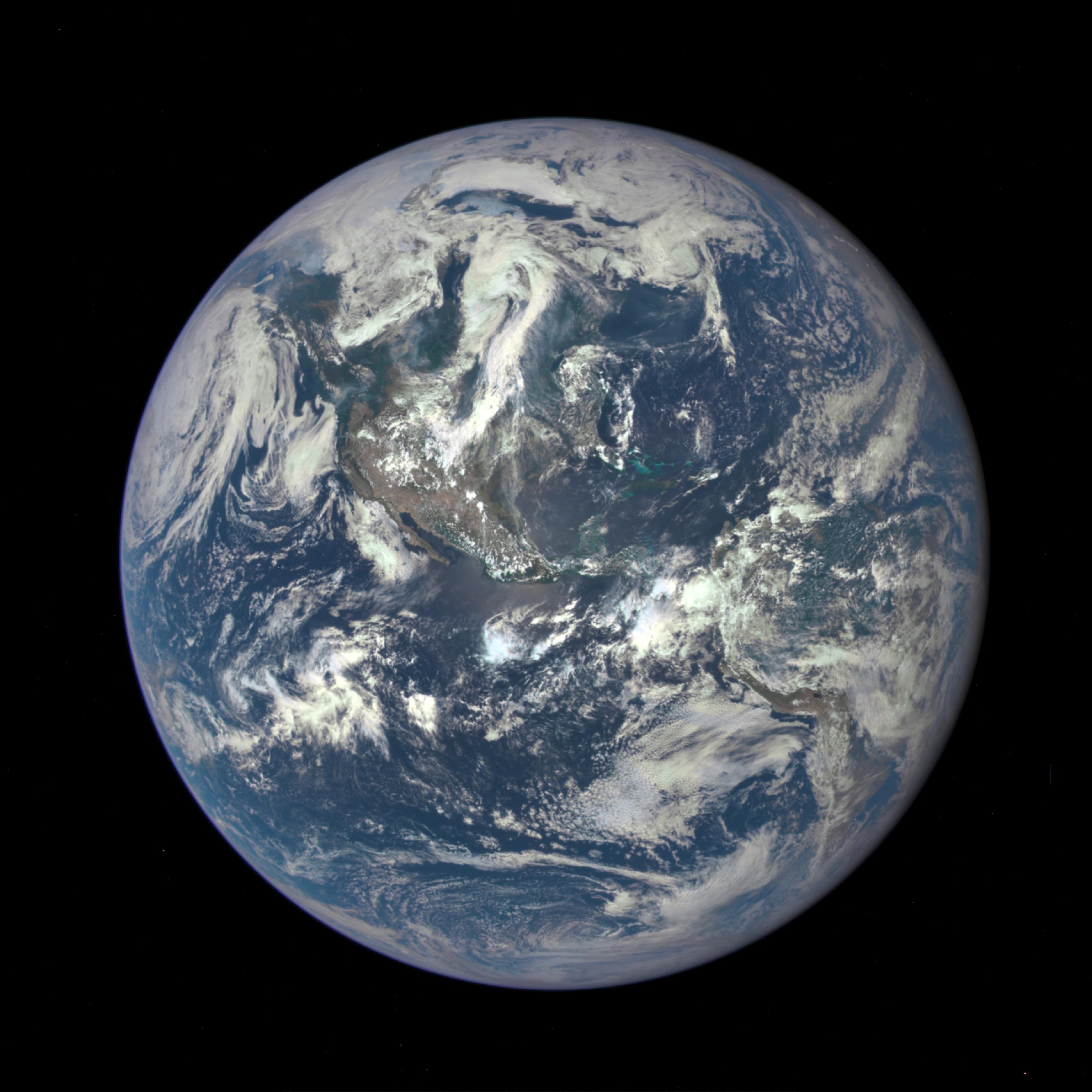 La Tierra, el pasado 6 de julio, vista por EPIC. Fuente: NASA.