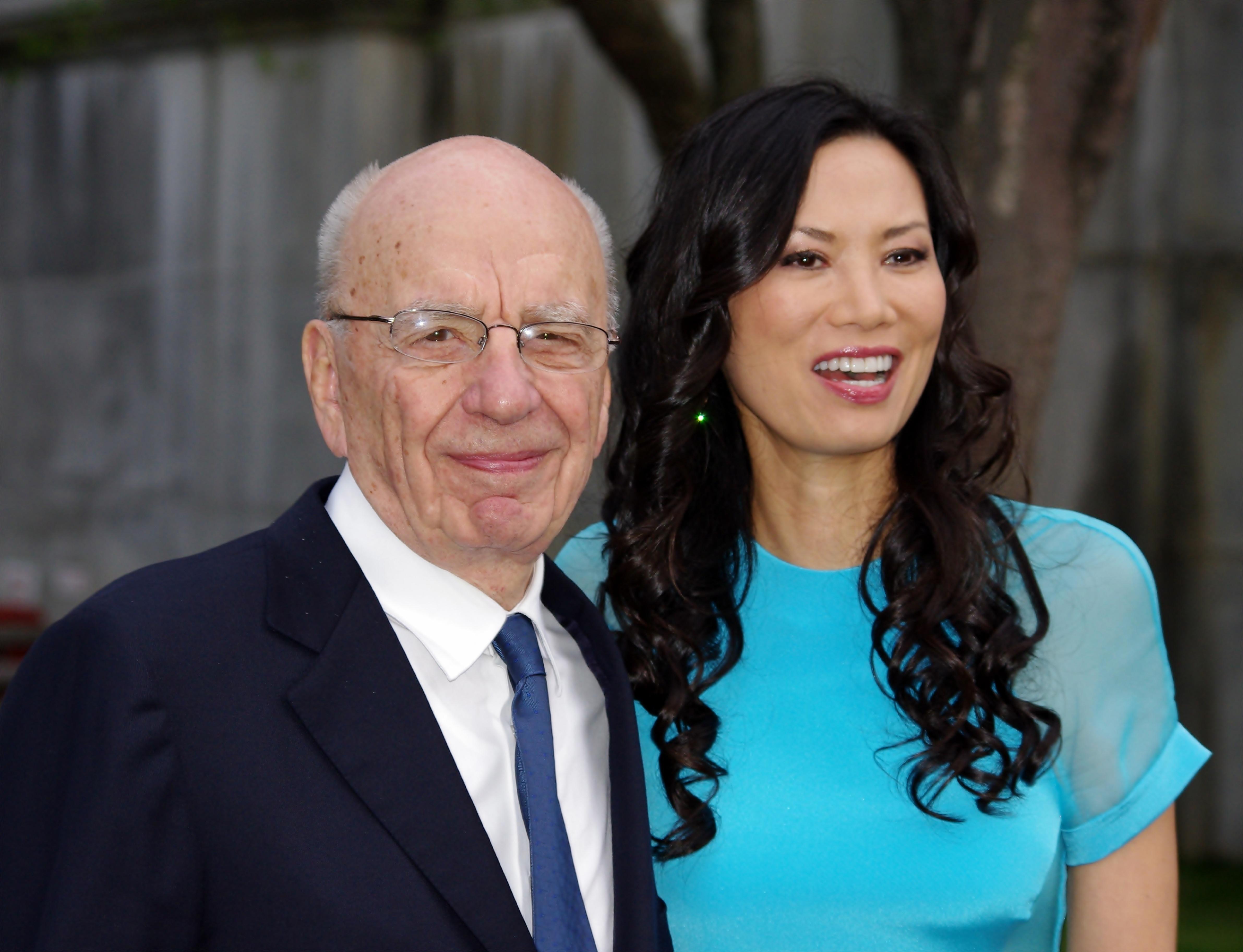 Rupert  Murdoch y su esposa en 2011. Foto: David Shankbone