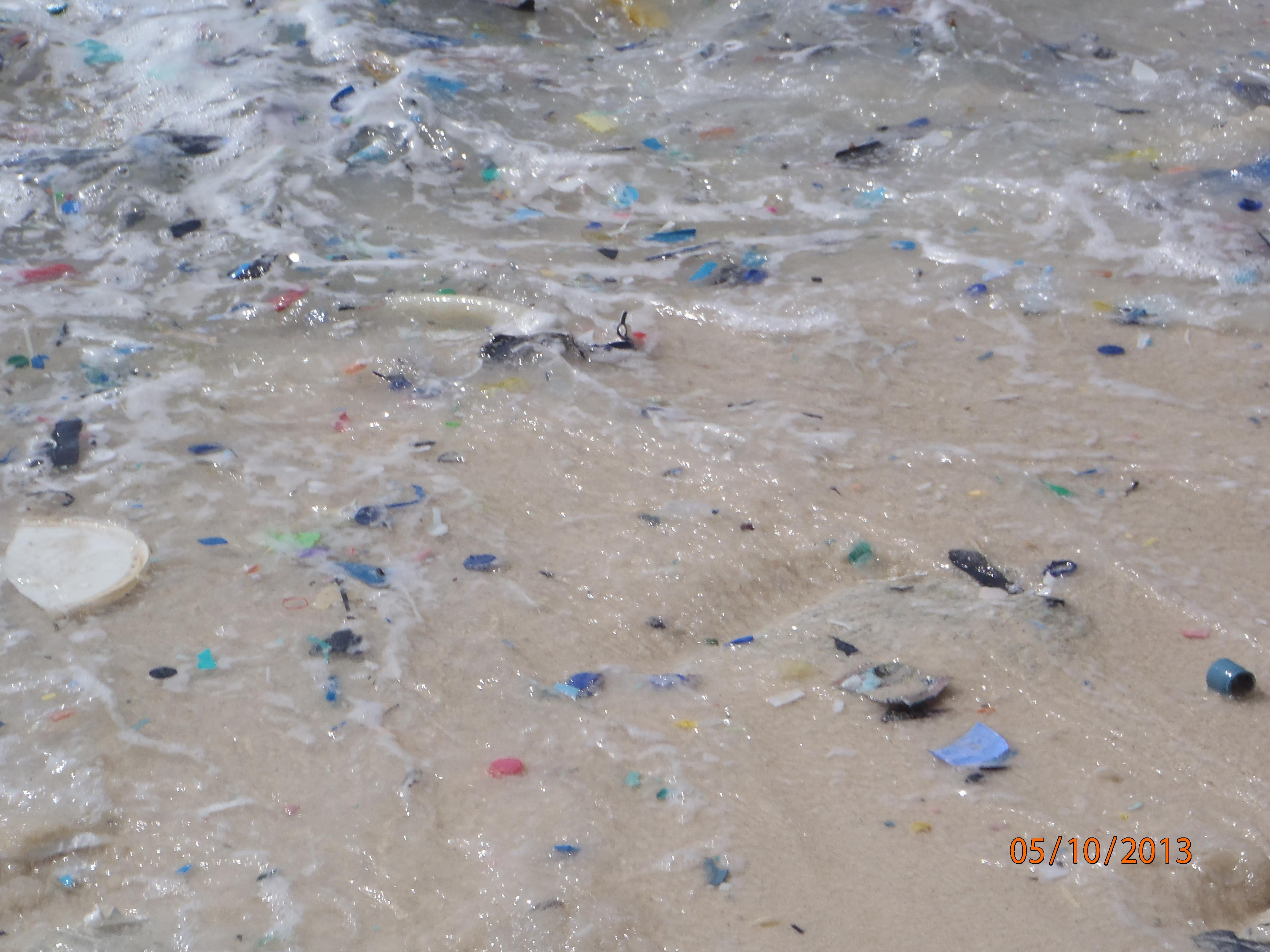 Fragmentos de plástico en la Isla Navidad. Imagen: B. D. Hardesty. Fuente: Csiro.