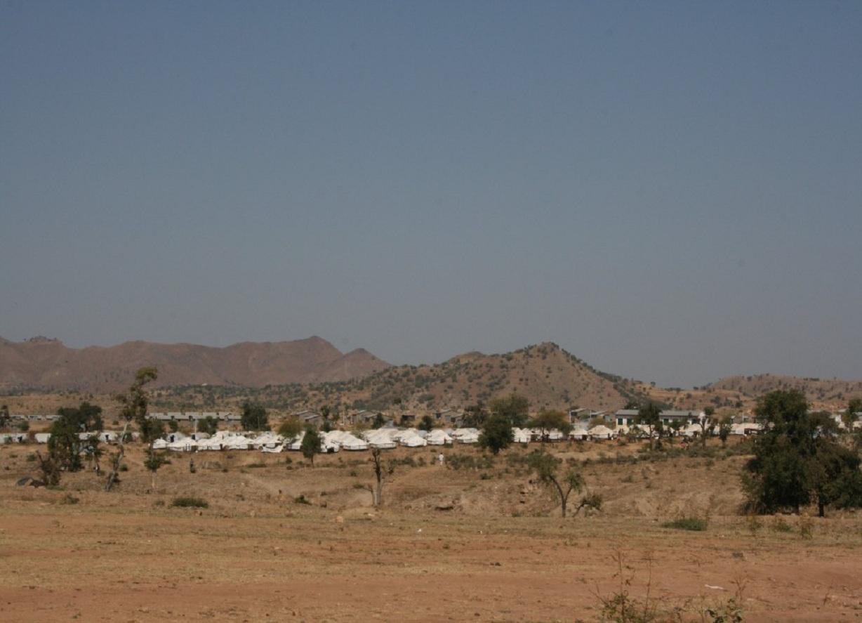 Campo de refugiados en la región de Shire (Etiopía). Fuente: UPM.