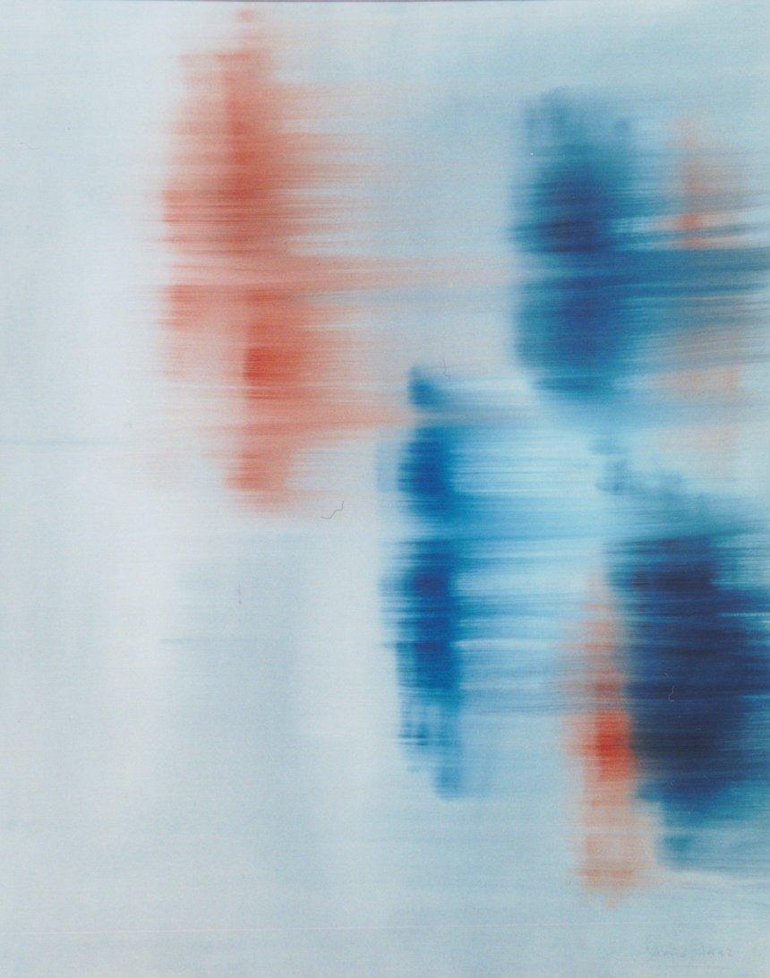 La flecha del tiempo. Oleo sobre lienzo. María Novo.