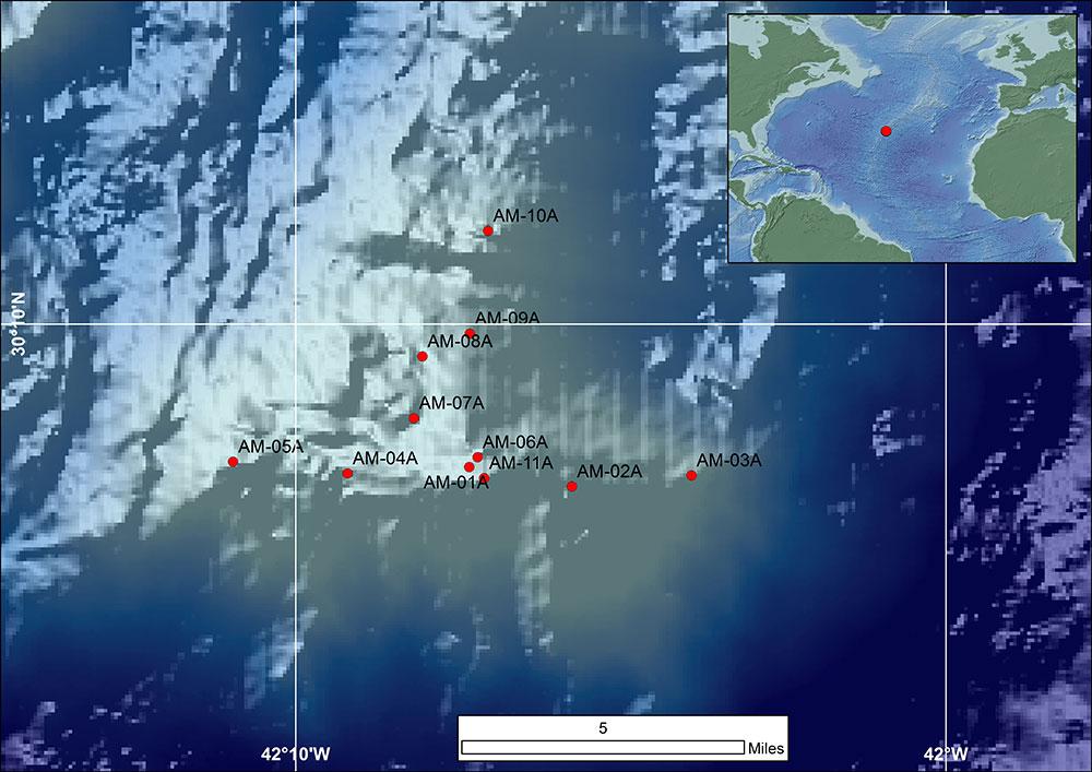 Zonas en las que exploró la expedición. Fuente: Ecord.