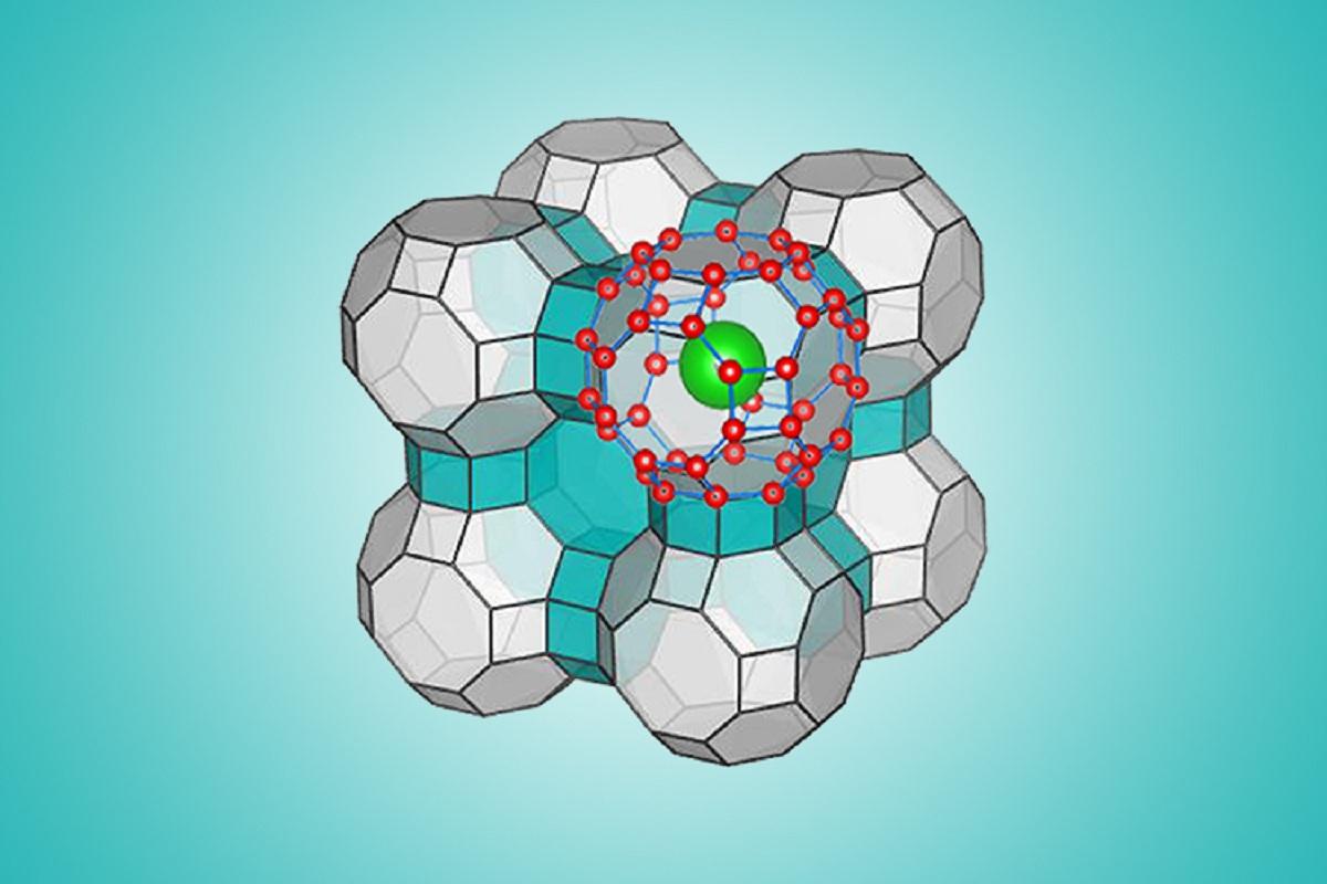 La configuración molecular del Hielo XVII. Imagen: Yingying Huang/Chongquin Zhu. Fuente: Universidad de Nebraska-Lincoln.
