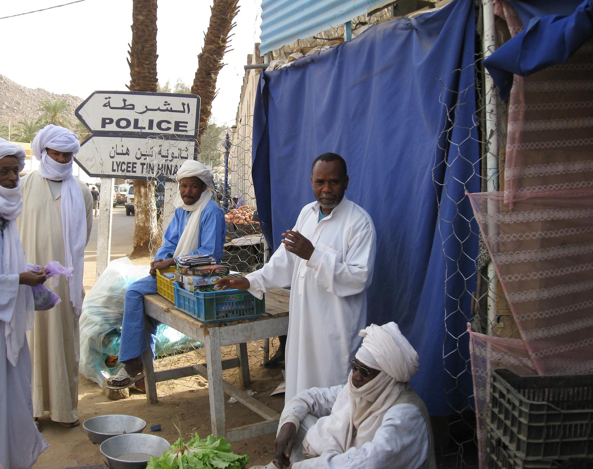 Mercado tuareg en Argelia. Foto: jackmac34.