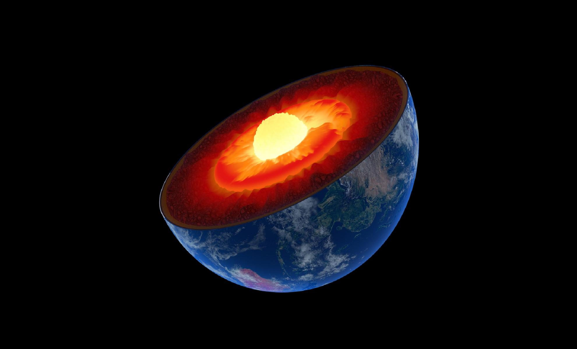 Las capas de la Tierra. Fuente: Laboratorio Nacional de Argonne (EE.UU.).