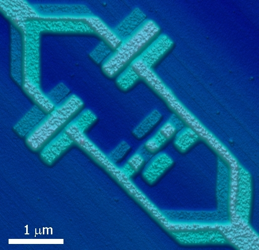 Imagen microscópoca de un qubit. Delft University of Technology.