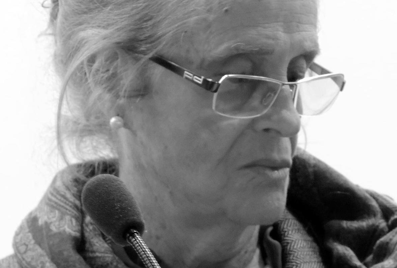 María Victoria Atencia en la presentación de la Colección Genialogías en la Fundación Centro de Poesía Jose Hierro de Getafe, el pasado 21 de abril de 2016. Fuente: Ediciones Tigres de Papel.