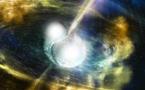 Detectan materia emergiendo de la fusión de dos estrellas de neutrones