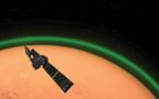 Un resplandor verde rodea a la atmósfera de Marte