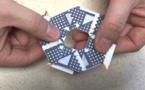 Crean una batería desechable con forma de estrella ninja