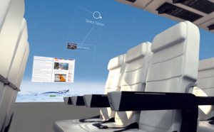 Los aviones del futuro no tendrán ventanas sino pantallas que proyectan imágenes