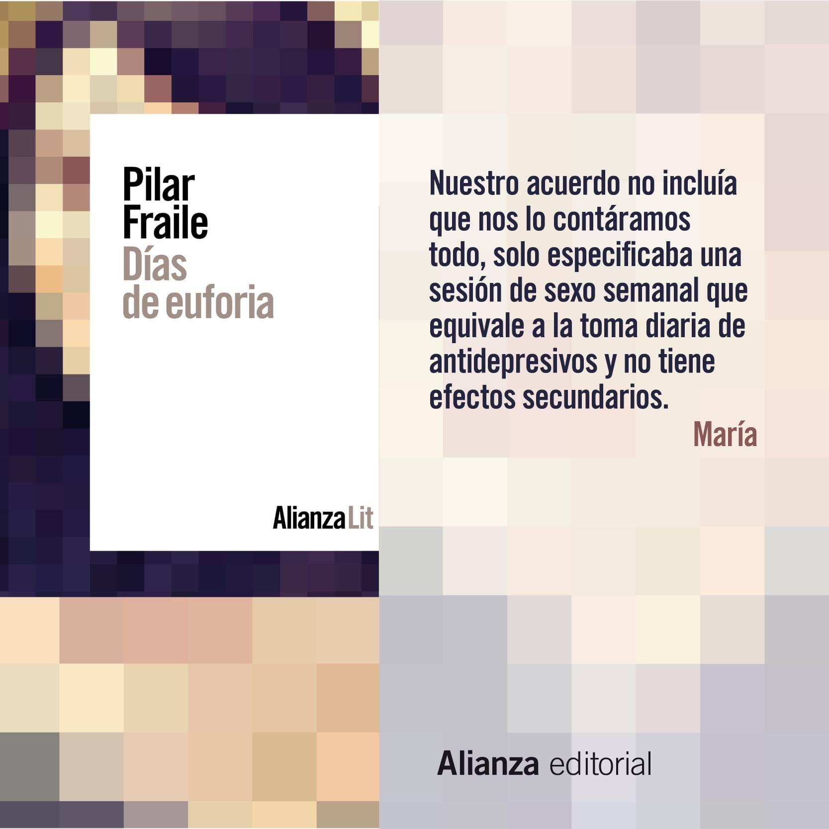 Días de euforia, de Pilar Fraile Amador (Alianza Editorial, octubre 2020
